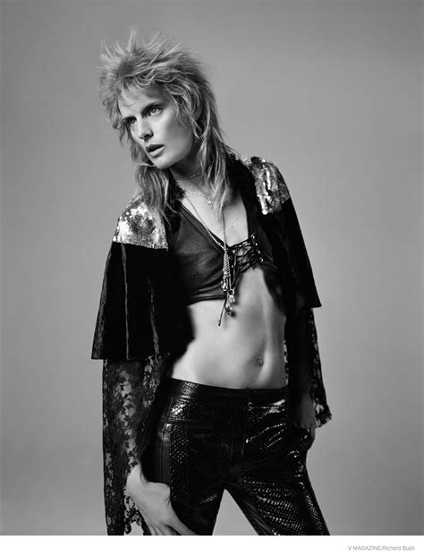 In Style Showcases Rock Style by Stella Tennant Models Glam Rock Fashion Looks For V Magazine