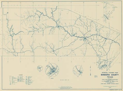 where is bandera texas on map bandera county map 1936
