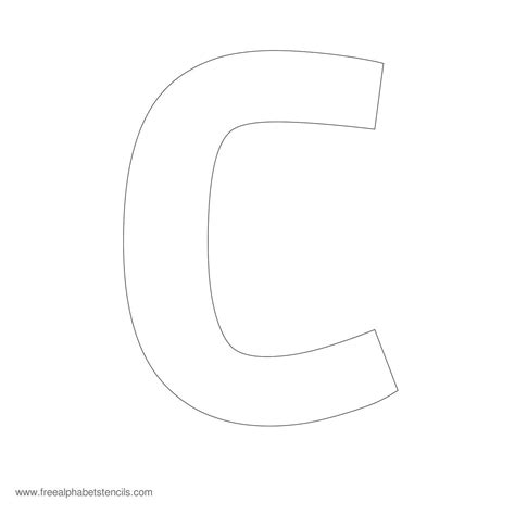 large letter c template free printable alphabet template