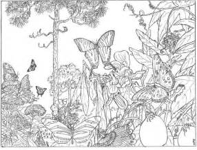 forest color inspirational coloring pages from secret garden enchanted