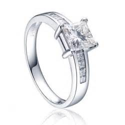 Rings multistone rings 1 carat princess cut diamond engagement ring