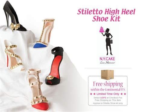 stilleto high heel shoe kit fashion cakes