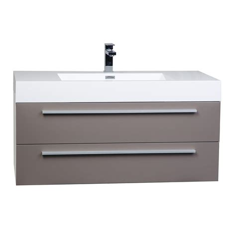 High Bathroom Vanities Buy 39 25 Inch Wall Mount Contemporary Bathroom Vanity High Gloss Iron Grey Tn T1000 Hgbg On