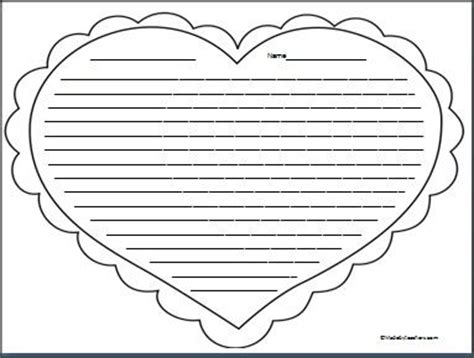 this is heart writing paper with college ruled lines