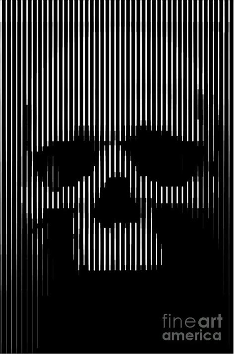 Metal Mesh Curtain Skull Lines Painting By Sassan Filsoof