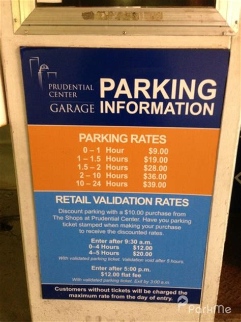 parking garage rates nyc prudential center parking garage parking in boston parkme