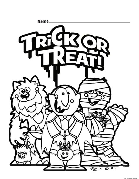 halloween coloring pages trick or treat halloween trick or treat colouring pages for kidsfree