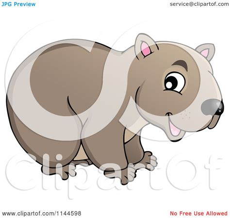 cartoon of a cute aussie wombat royalty free vector