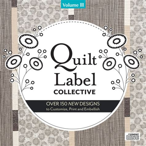 design a quilt label quilt label collective iii cd personalized quilt labels