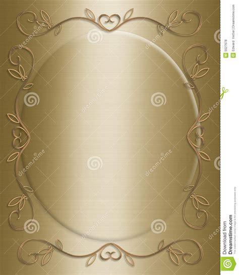 wedding or anniversary invitation stock illustration