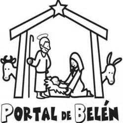 dibujos navideños para colorear portal belen imagen navide 241 a del portal de bel 233 n para colorear