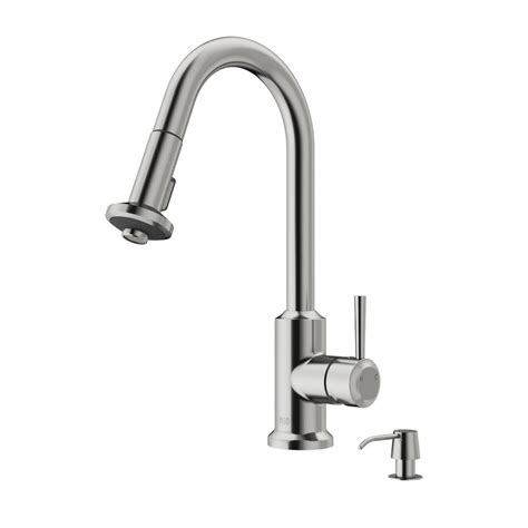 stainless steel kitchen faucet with pull spray vigo single handle pull out sprayer kitchen faucet with soap dispenser in stainless steel