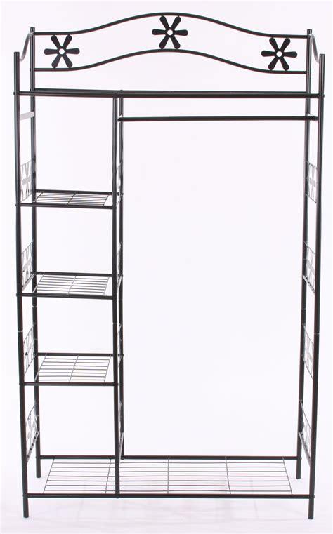 armario de ropa en metal ginebra perchero estante de metal xx cm