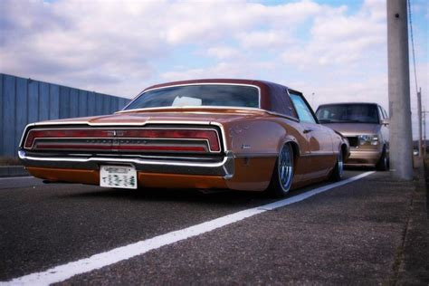 stanced muscle cars stanced thunderbird in japan favorite american cars