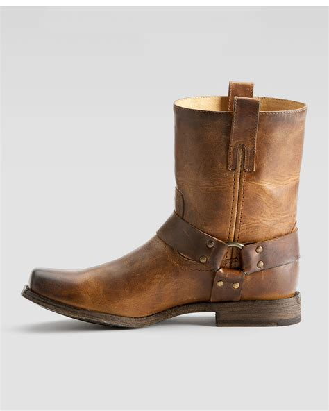 frye boots for lyst frye smith harness boot in brown