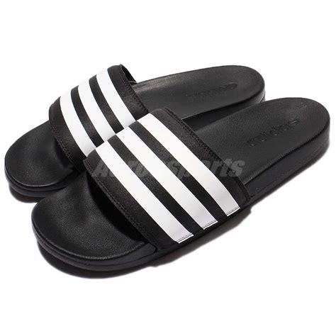 addidas slippers adidas adilette cf cloudfoam plus black white sandal