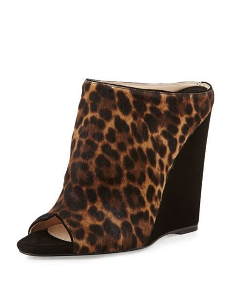 Marc By Marc Patchwork Combo Peep Toe Wedge by Prada Leopard Print Combo Wedge Slide
