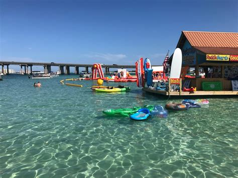 military boat rentals in destin fl crab island florida s water playground postcards to me