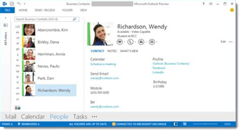 How To Email A Gift Card - how to view contact cards in outlook 2013 bruceb news