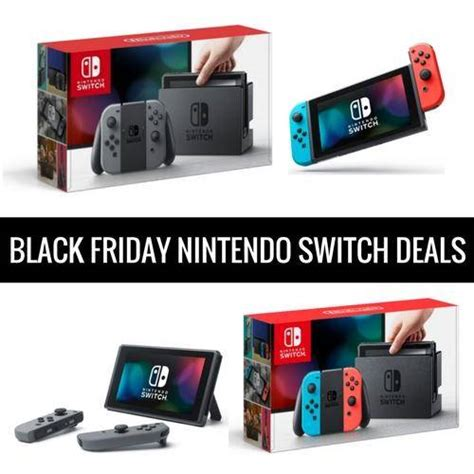 Nintendo Switch Black best black friday nintendo switch deals cyber monday sales 2017