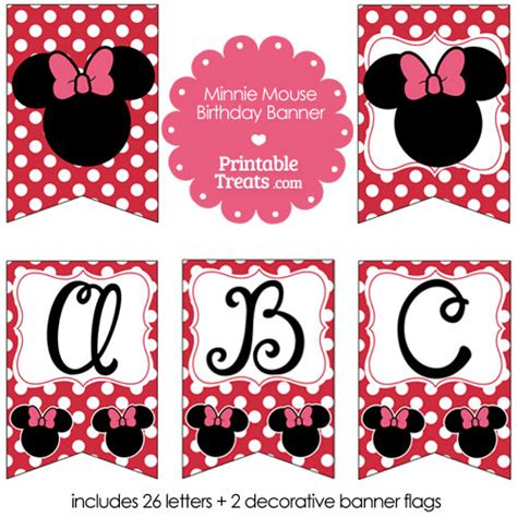 printable minnie mouse birthday banner free printable minnie mouse happy birthday banner letters a m