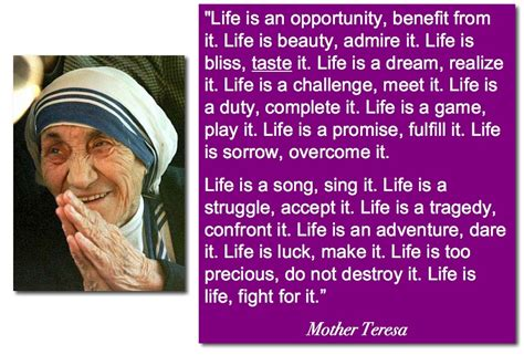 biography about a mother mother teresa quotes on life quotesgram