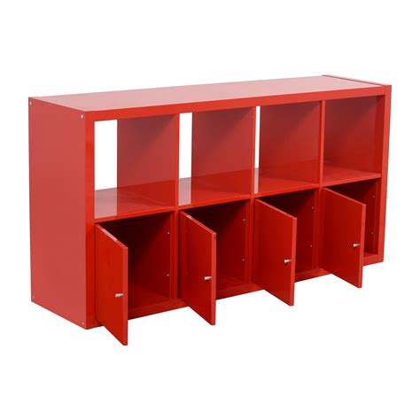 used ikea cabinets 78 off ikea ikea red shelving with storage cabinets