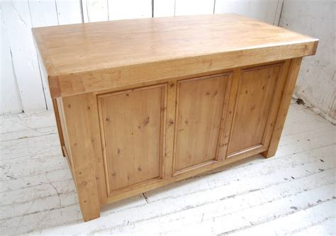 Unfinished Wood Kitchen Island Reclaimed Solid Wood Kitchen Island By Eastburn Country Furniture Notonthehighstreet