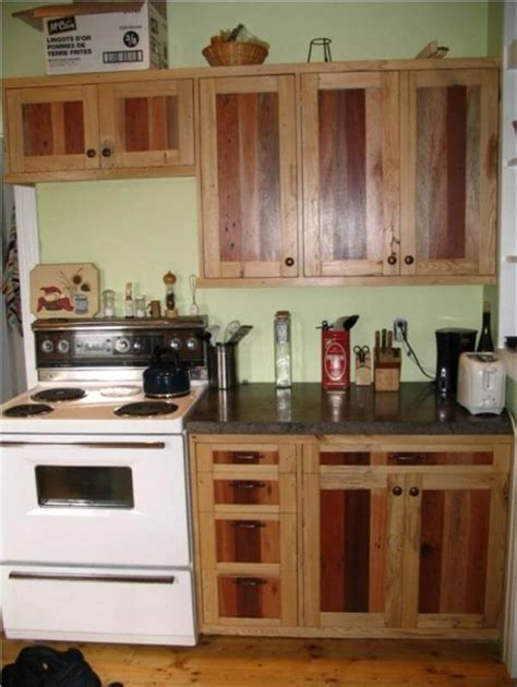 Recycle Kitchen Cabinets Diy Pallet Kitchen Cabinets Low Budget Renovation