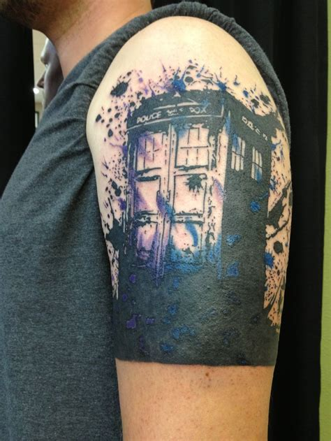 tardis tattoo tardis doctorwho tattoos of ships and tattoos of