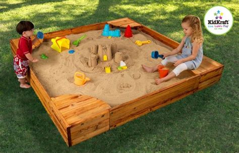 sandbox for backyard bring the beach in your backyard amazing diy sandbox