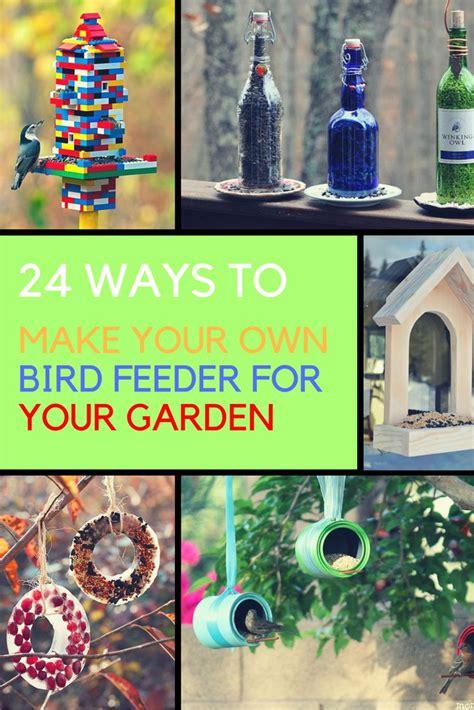 diy bird feeders 24 ways to make your own birder feeder