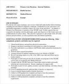 physician assistant description template sle physician assistant description 8 exles