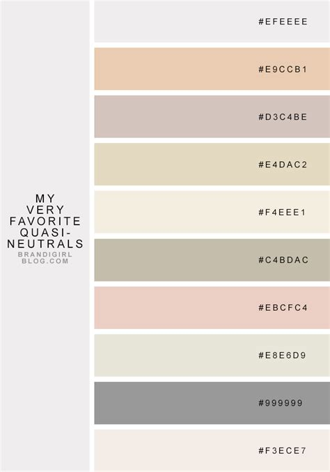 neutral colors neutral colours with hex colour codes color combo