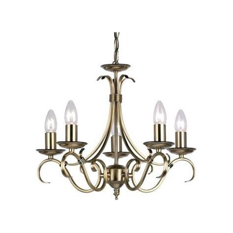 Candelabra Ceiling Light Endon Lighting Decorative Candelabra Style 5 Light Ceiling Fitting In Antique Brass Finish