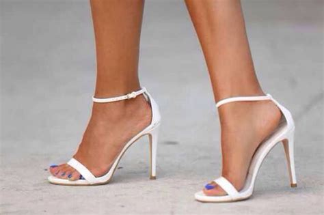 white high heeled sandals shoes white heels sandals blouse high heels leigh