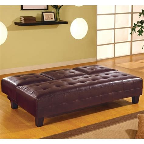 Coaster 300153 Brown Leather Sofa Bed Steal A Sofa Brown Leather Sofa Beds