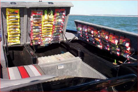 fishing boat organization ideas cool bass boat tackle storage ideas goodsgn