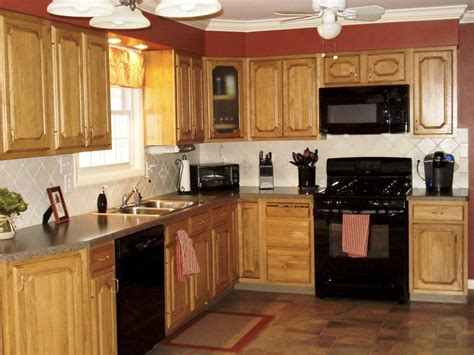 oak kitchen ideas kitchen kitchen color ideas with oak cabinets and black