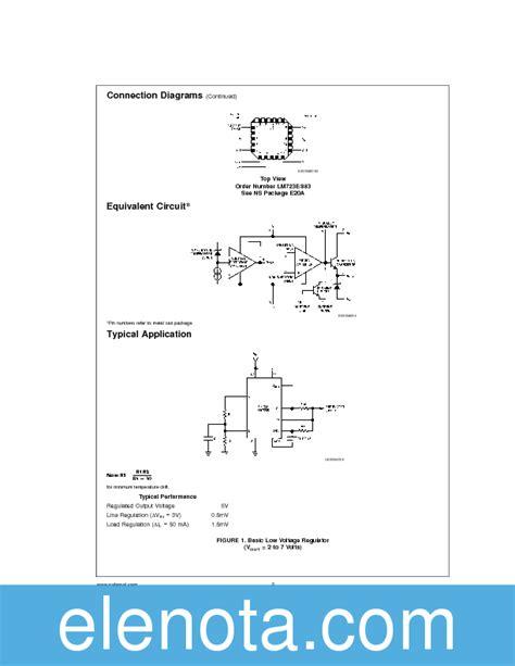 lm723 datasheet pdf 470 kb national semiconductor pobierz z elenota pl