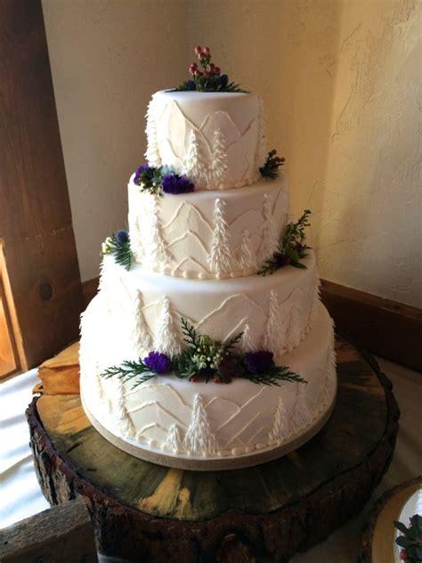 Wedding Cake Mountain by Beautiful Mountaintop Wedding Recap The Daily Hostess