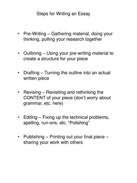 Steps For Essay Writing by Ppt Steps For Writing An Essay Powerpoint Presentation Id 2347510