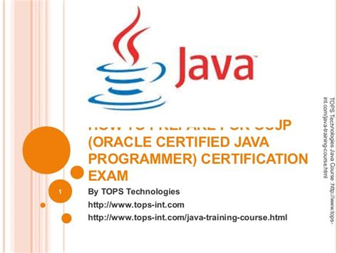 java and middleware certification oracle tips to prepare for ocjp oracle certified java programmer