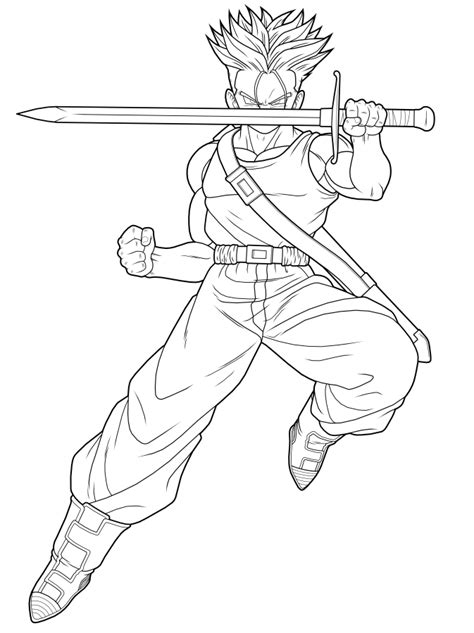 dragon ball z trunks coloring pages free coloring pages of goten and trunks