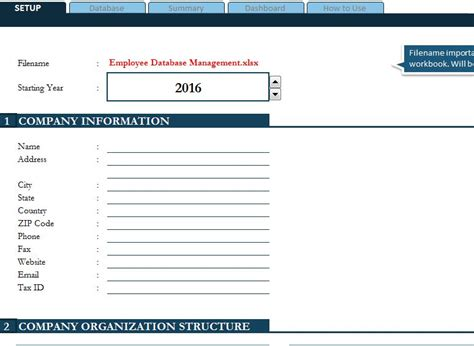 Employee Database Management My Excel Templates Employee Database Template Excel