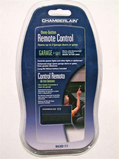 chamberlain  remote garage door opener control