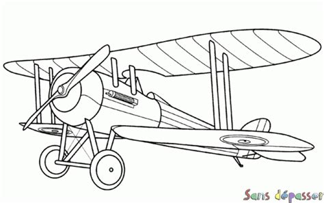 Coloriage Avion Bi Plan Sans D 233 Passer