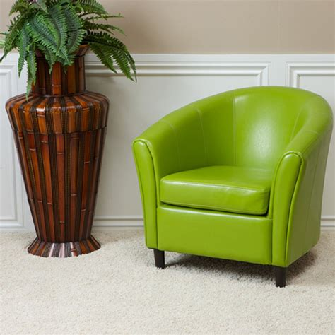Newport Lime Green Leather Club Chair Contemporary Lime Green Living Room Chairs