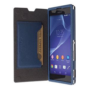 krusell malmo flipcover voor sony xperia t3 blauw mobilefun nl
