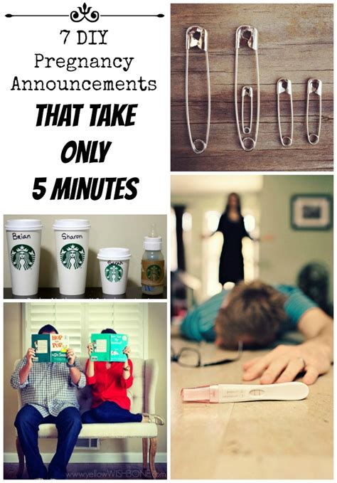 7 Only Ideas by 7 Great Diy Pregnancy Announcements